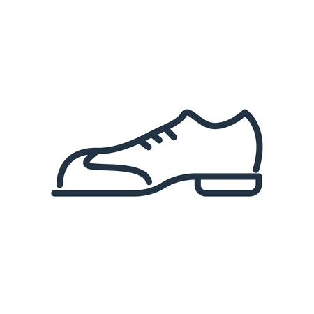 Shoes icon vector isolated on white background, Shoes transparent sign