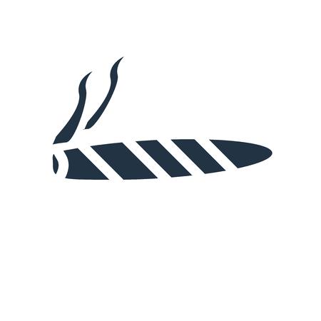 Zigarrenikonenvektor lokalisiert auf weißem Hintergrund, transparentes Zeichen der Zigarre
