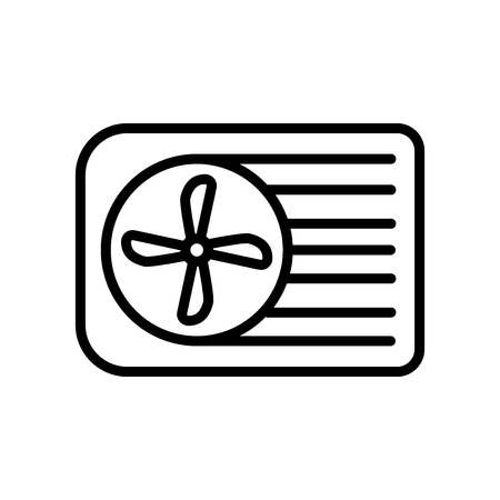 Air conditioner icon vector isolated on white background, Air conditioner transparent sign , line and outline elements in linear style Stock Illustratie