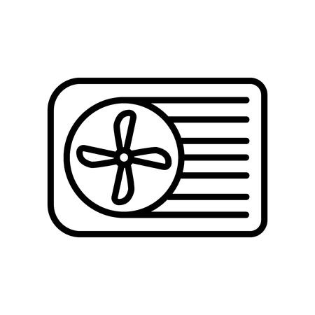 Vecteur d'icône de climatiseur isolé sur fond blanc, éléments de signe, de ligne et de contour transparents de climatiseur dans un style linéaire