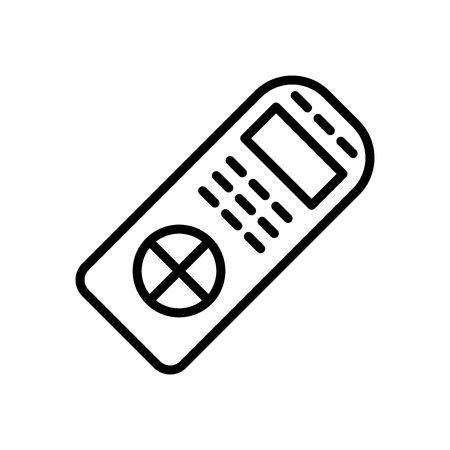 Remote control icon vector isolated on white background, Remote control transparent sign , line and outline elements in linear style Stock Illustratie