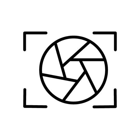 Shutter Icon Vektor isoliert auf weißem Hintergrund, Shutter transparentes Zeichen, Linien- und Umrisselemente im linearen Stil Vektorgrafik