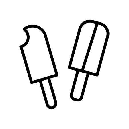icecream icon vector isolated on white background, icecream transparent sign , line and outline elements in linear style Illustration
