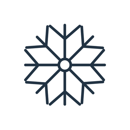 Snow icon vector isolated on white background, Snow transparent sign
