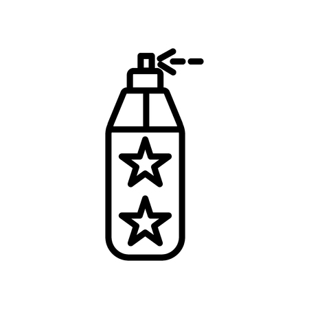 Paint spray icon vector isolated on white background, Paint spray transparent sign , line and outline elements in linear style Illustration