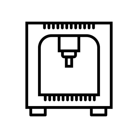 Printer icon vector isolated on white background, Printer transparent sign , line and outline elements in linear style