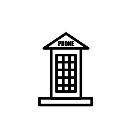 Phone booth icon vector isolated on white background, Phone booth transparent sign , line or linear sign, element design in outline style Stock Illustratie