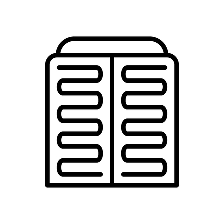 Condenser icon vector isolated on white background, Condenser transparent sign , line and outline elements in linear style  イラスト・ベクター素材