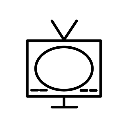 Television icon vector isolated on white background, Television transparent sign , line and outline elements in linear style