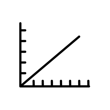 Line graph icon vector isolated on white background, Line graph transparent sign , line and outline elements in linear style