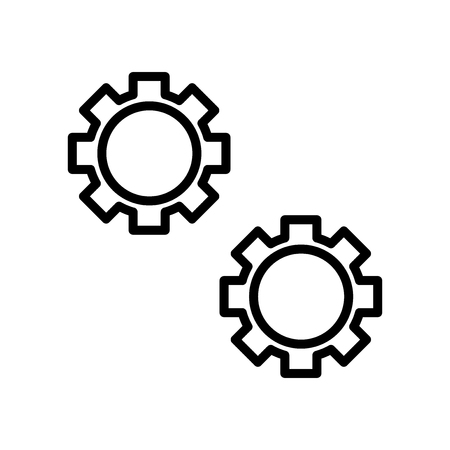 Settings icon vector isolated on white background, Settings transparent sign , line and outline elements in linear style