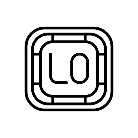 Low icon vector isolated on white background, Low transparent sign , line and outline elements in linear style