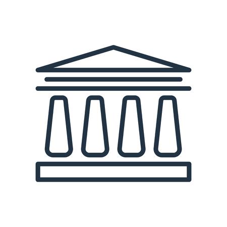 University icon vector isolated on white background, University transparent sign Illusztráció
