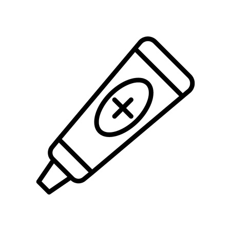 Ointment icon vector isolated on white background, Ointment transparent sign , line and outline elements in linear style