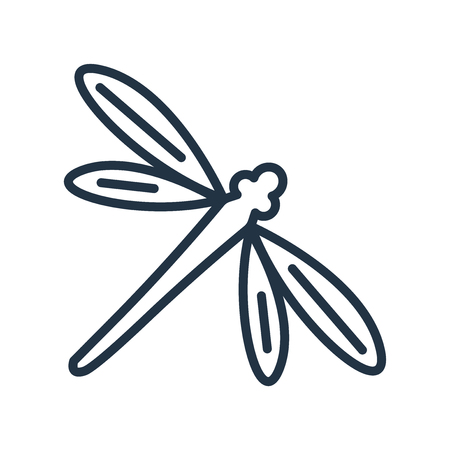 Dragon fly icon vector isolated on white background, Dragon fly transparent sign Illustration