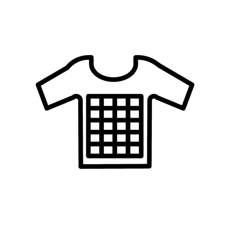 Tshirt icon vector isolated on white background, Tshirt transparent sign , line or linear sign, element design in outline style