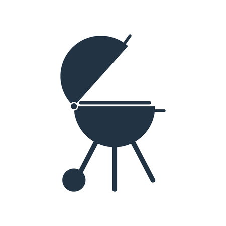 Barbecue grill icon vector isolated on white background, Barbecue grill transparent sign Illustration