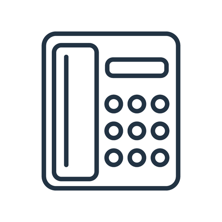 Telephone icon vector isolated on white background, Telephone transparent sign  イラスト・ベクター素材