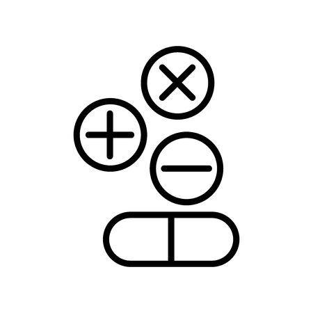 Drugs icon vector isolated on white background, Drugs transparent sign , line and outline elements in linear style Ilustração