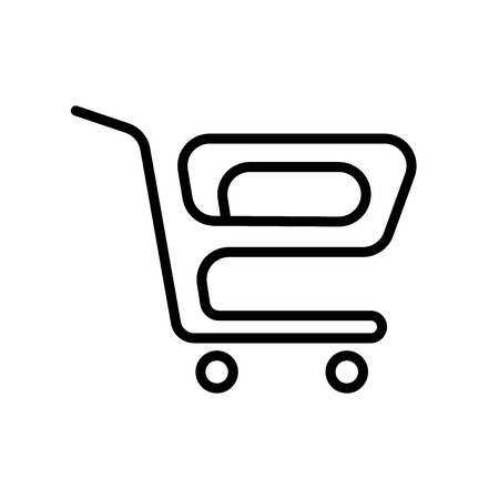Trolley icon vector isolated on white background, Trolley transparent sign , line and outline elements in linear style