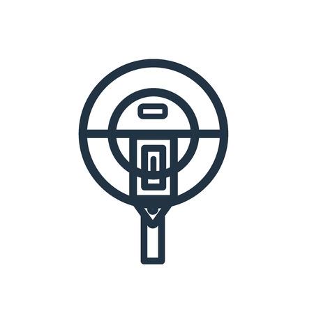 Parkeermeter pictogram vector geïsoleerd op een witte achtergrond, parkeermeter transparante teken Vector Illustratie