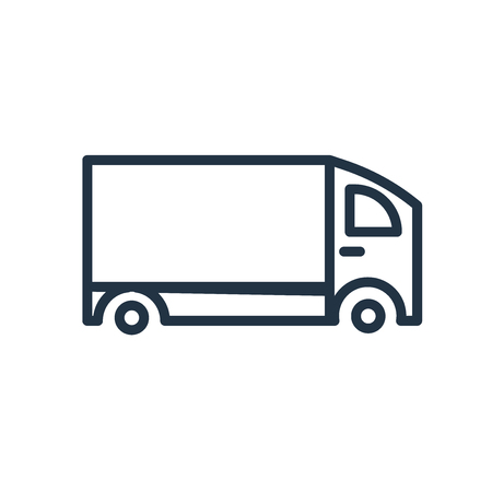 Delivery truck icon vector isolated on white background, Delivery truck transparent sign 일러스트