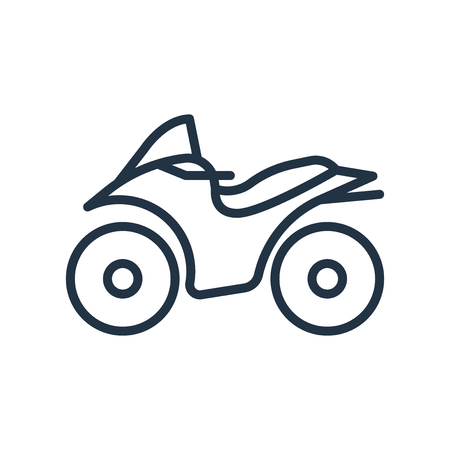Motorcycle icon vector isolated on white background, Motorcycle transparent sign