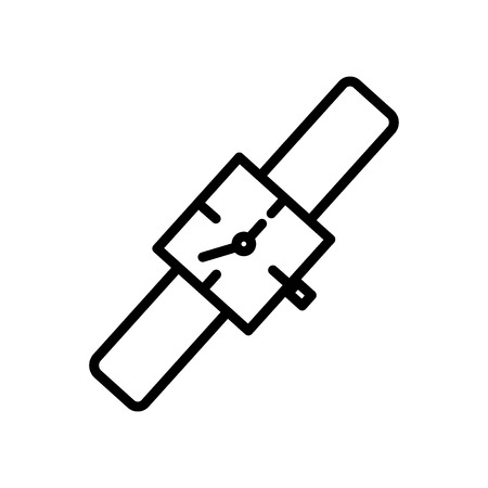 Watch icon vector isolated on white background, Watch transparent sign , line and outline elements in linear style