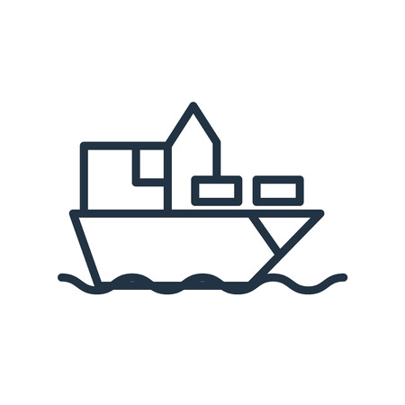 Ship icon vector isolated on white background, Ship transparent sign Illustration
