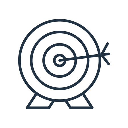 Archery icon vector isolated on white background, Archery transparent sign Illustration