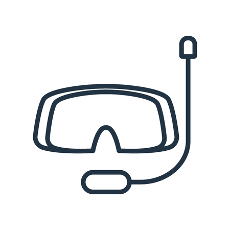 Snorkel icon vector isolated on white background, Snorkel transparent sign Illustration