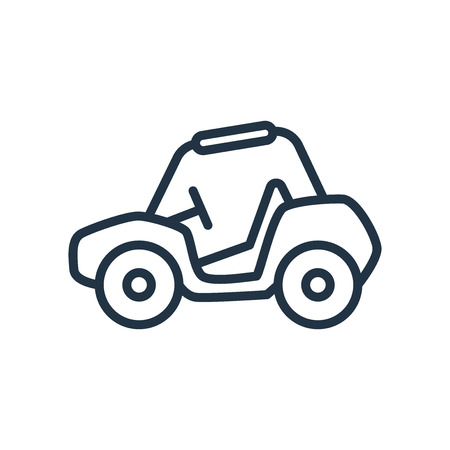 Buggy icon vector isolated on white background, Buggy transparent sign Stock Illustratie