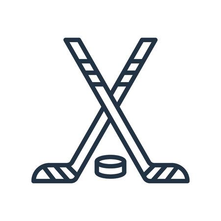 Hockey icon vector isolated on white background, Hockey transparent sign Imagens - 111605280