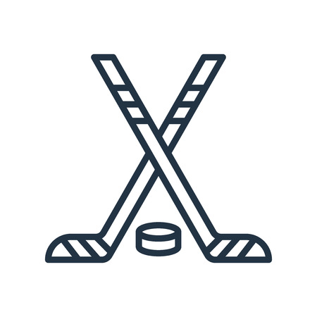 Hockey icon vector isolated on white background, Hockey transparent sign