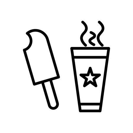 icecream icon vector isolated on white background, icecream transparent sign , line and outline elements in linear style Ilustração