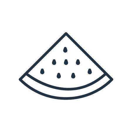 Wassermelonenikonenvektor lokalisiert auf weißem Hintergrund, transparentes Zeichen der Wassermelone