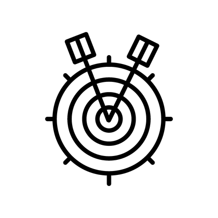 Target icon vector isolated on white background, Target transparent sign , line and outline elements in linear style Illustration
