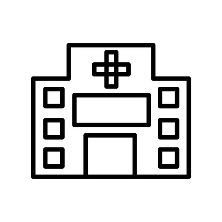 Hospital icon vector isolated on white background, Hospital transparent sign , line or linear sign, element design in outline style Standard-Bild - 111605314