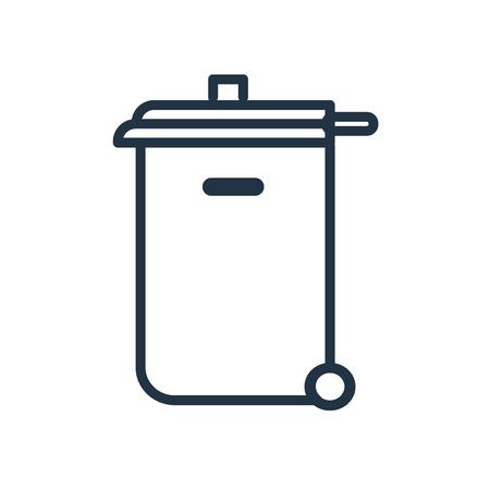 Vecteur d'icône bac de recyclage isolé sur fond blanc, signe transparent de bac de recyclage