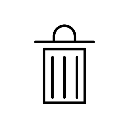 Trash icon vector isolated on white background, Trash transparent sign , line or linear sign, element design in outline style
