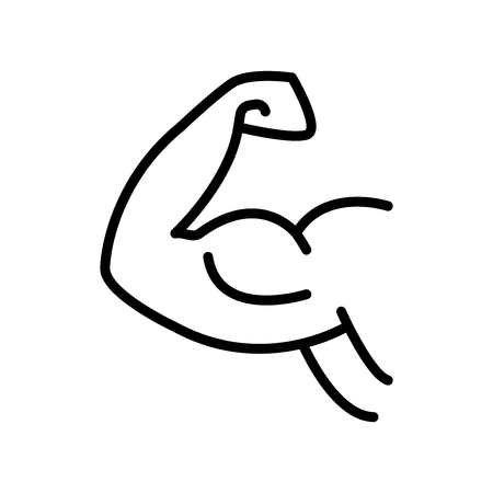 Arm icon vector isolated on white background, Arm transparent sign , line and outline elements in linear style Illustration