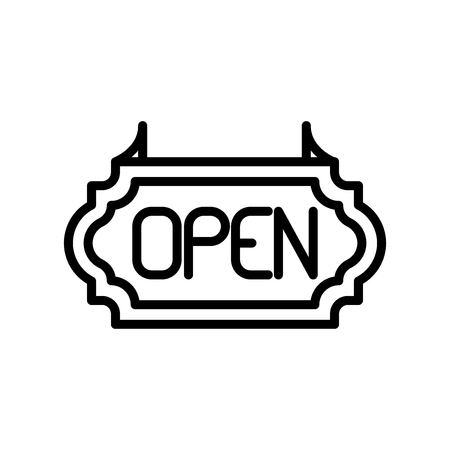 Open icon vector isolated on white background, Open transparent sign , line and outline elements in linear style