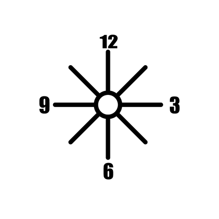 Clocks icon vector isolated on white background, Clocks transparent sign , line and outline elements in linear style