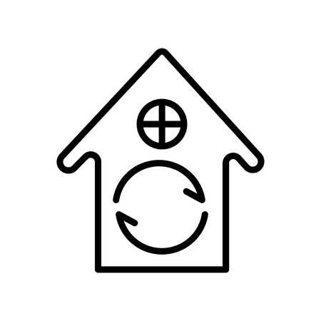 House icon vector isolated on white background, House transparent sign , line and outline elements in linear style Ilustrace