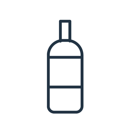 Bottle icon vector isolated on white background, Bottle transparent sign