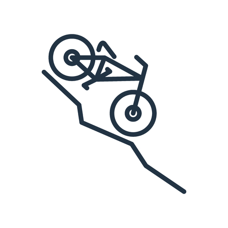Downhill icon vector isolated on white background, Downhill transparent sign