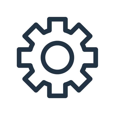 Impostazioni icona vettoriale isolato su sfondo bianco, segno trasparente Impostazioni Vettoriali