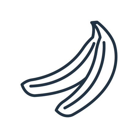 Banana icon vector isolated on white background, Banana transparent sign