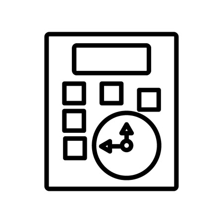 Calculator icon vector isolated on white background, Calculator transparent sign , line and outline elements in linear style