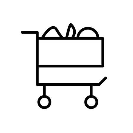 Cart icon vector isolated on white background, Cart transparent sign , line or linear sign, element design in outline style Archivio Fotografico - 111607600